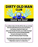 Bargain World Dirty Old Man Club Pocket Cards (with Sticky Notes)