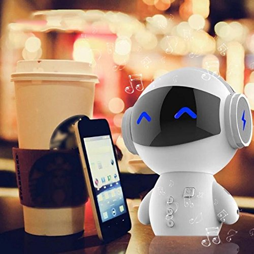 Portable Robot Bluetooth Speaker Stereo Handsfree Noise Cancelling AUX TF MP3 Music Player Cell phone Call Charging Power Bank