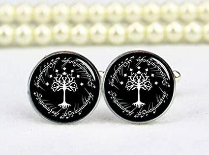 Amazon.com: life tree cufflinks, white tree cuff links, custom any ...