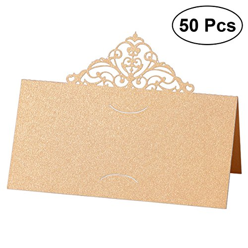 BESTONZON Pcs Place Card Holders Tent Cards With Hollow Flower - Table tent card holders