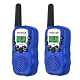 Proster Kids Walkie Talkies 8 Channels Wireless Walky Talky LCD Toy Two-Way Radios with Flashlight for Children Friends Family Activities Outdoor Play Navy Blue