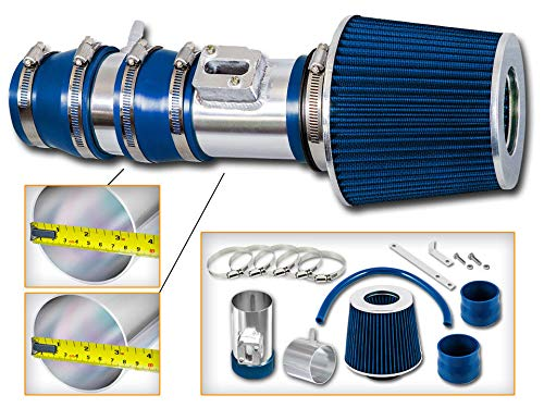 R&L Racing Blue Short Ram Air Intake System + Dry Air Filter Kit 08-12 For Accord/Crosstour 3.5L - Accord System Blue Intake