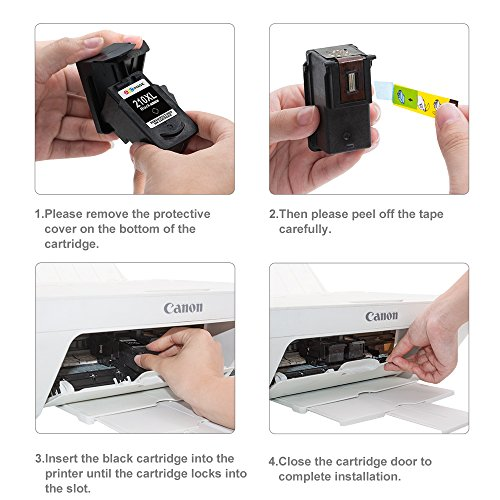 GPC Image 2 Black Remanufactured Ink Cartridge (InkLevel Chip) Replacement for Canon PG-210XL 210XL 210 XL High Yield (2 Black) for Canon PIXMA iP2702 MP495 MP240 MX410 MP280 MP480 MX360 MX420 Printer Photo #8