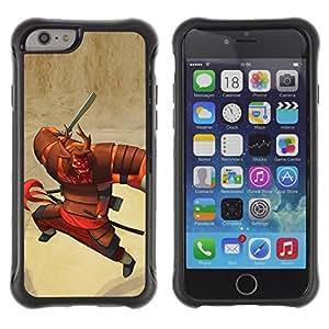 LASTONE PHONE CASE / Suave Silicona Caso Carcasa de Caucho Funda para Apple Iphone 6 / samurai character cartoon Japanese warrior