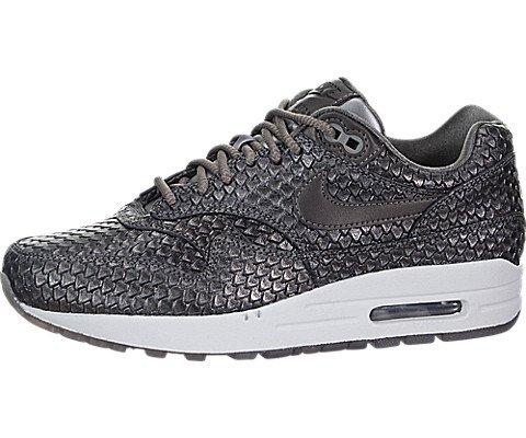 (Nike Air Max 1 Premium Women's Running Shoes Metallic Pewter/Metallic Pewter 454746-015 (7.5 B(M) US))