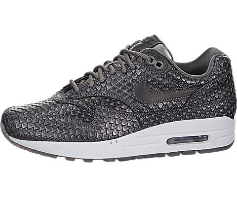 Nike Air Max 1 Premium Women's Running Shoes Metallic Pewter/Metallic Pewter 454746-015 (7 B(M) US) (Air Pewter)
