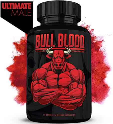 Bull Blood Male Enhancing Pills (1 Month Supply) - Enlargement Booster for Men - Increase Size, Strength, Stamina - Energy, Mood, Endurance Boost - All Natural Performance Supplement - Made in USA