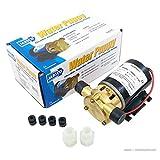 "Jabsco 18660-0121 Marine Water Puppy Bilge / Sump Flexible Impeller Pump 6.3 GPM, 12-Volt, 15-Amp Non-CE, 1/2"" NPT Ports, Neoprene Impeller"
