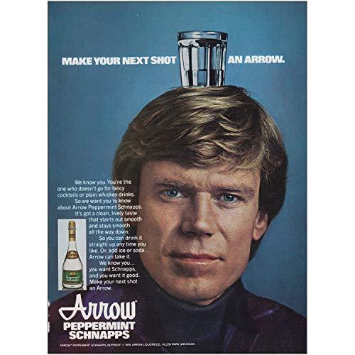 (RelicPaper 1978 Arrow Peppermint Schnapps: Make Your Next Shot an Arrow, Arrow Liqueurs Print Ad)