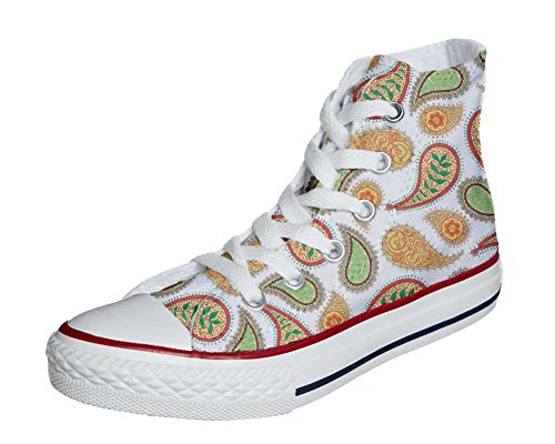 Converse All Star Customized - Zapatos Personalizados (Producto Artesano) Quirky Paisley