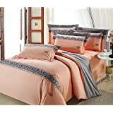 GL&G European cotton satin embroidery four - piece fashion simple embroidery cotton quilt bed linen,O,null