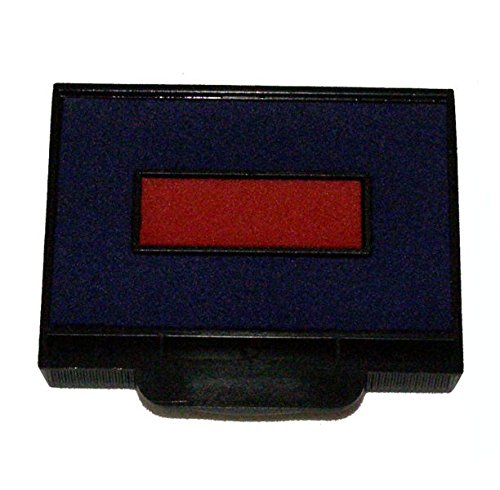 E-910-7 Replacement Pads for Ideal 7010 & HM6100 stamps, 2 color, Blue/Red (Two Color Replacement Pad)