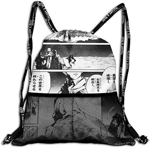 約束のネバーランド (4) 人気 ナップサック 通勤 通学 マルチ バッグ 旅行 多機能 ナップサック 男女兼用 スイミングバッグ 巾着袋 登山 防水 軽量 バンドルポケッ