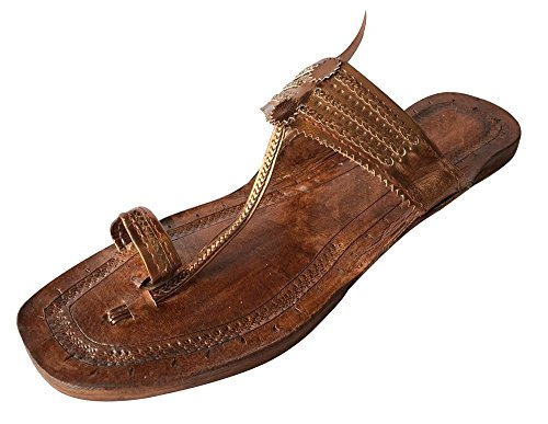 Leather Style Jutti Indian Handmade Kolhapuri Slipper Step n Mojadi wpqBAA