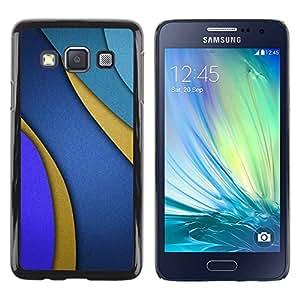 Paccase / SLIM PC / Aliminium Casa Carcasa Funda Case Cover para - Lines Blue Purple Gold Abstract - Samsung Galaxy A3 SM-A300