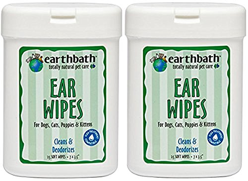 Earthbath All Natural Specialty Ear Wipes 25 Wipes, Pack of 2 (50 - Products Wipes Ear
