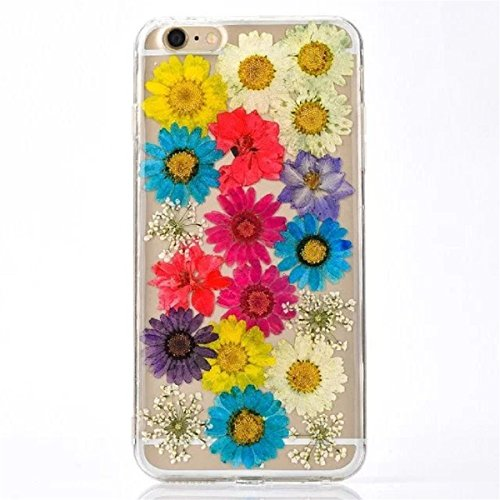 Hovisi TPU Real Flowers Custom Wildflowr Case for iPhone6/6S 4.7Inch (Color9)