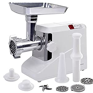 2000 Watt Meat Grinder Electric 2.6 HP Industrial Meat Grinder 3 Speed w/3 Blade TKT-11
