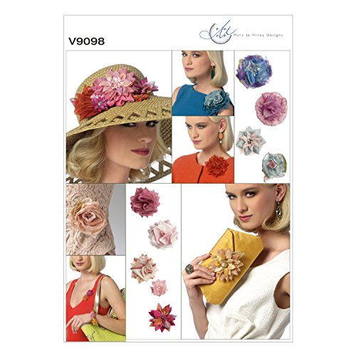 Vogue Patterns V9098 Flowers and Clutch Purse, One (Dahlia Clutch)