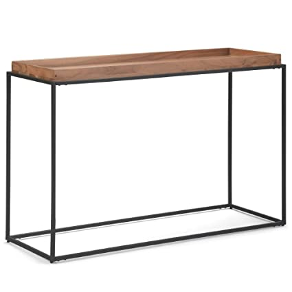 5c6e2ad676f0c Amazon.com  Simpli Home AXCCAR-03 Carter 47 inch Wide Contemporary  Industrial Tray Top Console Table in Natural Acacia  Kitchen   Dining