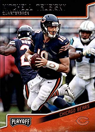 84359abc6f3 2018 Playoff Football #32 Mitchell Trubisky Chicago Bears Official NFL  Trading Card made by Panini
