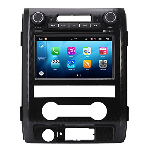Link 15 Cable Ups (RoverOne Android 4.4.4 In Dash Car DVD GPS Navigation System for Ford F150 Raptor 2009 2010 2011 2012 with Stereo Radio Bluetooth SD USB Mirror Link Canbus Touch Screen)
