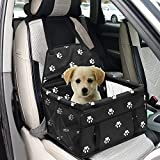 XuSheng Dog Car Seat Portable Folding Dog Booster Car Seat-Dog Car Travel Carrier with Clip and Zipper Storage Pocket for Small and Medium Pet.