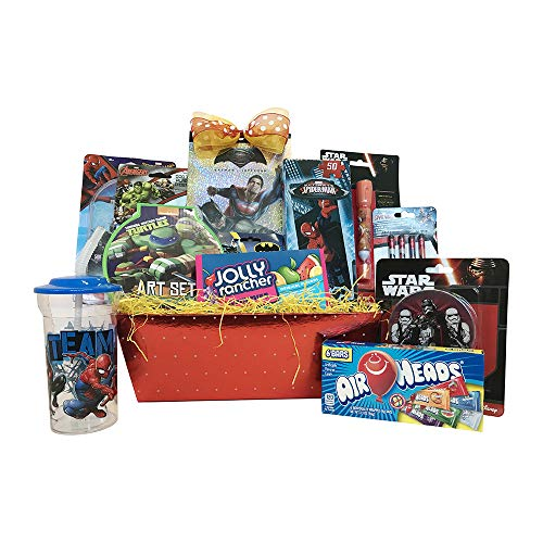 Gift Baskets - Ultimate Superhero Fun & Games Includes Ave - 10 Items For Kids