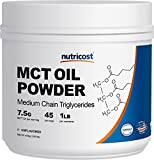 Nutricost MCT Oil Powder 1LB (16oz) – Great for Keto, Ketosis and Ketogenic Diets – Zero Net Carbs – Made in The USA, Non-GMO + Gluten Free (Medium Chain Triglyceride) For Sale