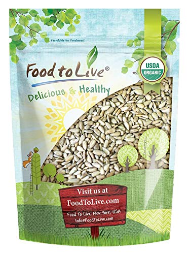 Organic Sprouted Sunflower Seeds, 2 Pounds - Non-GMO, Kosher, No Shell, Unsalted, Raw Kernels, Vegan Superfood, Bulk (Sprouted Sunflower Seeds Organic)