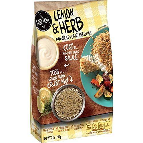 The Good Table Lemon & Herb Sauce & Crust Mix for Fish 10.2 oz. Box