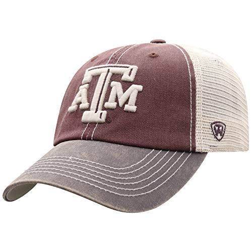 (Top of the World Texas A&M Aggies Men's Mesh-Back Hat Icon, Maroon, Adjustable )