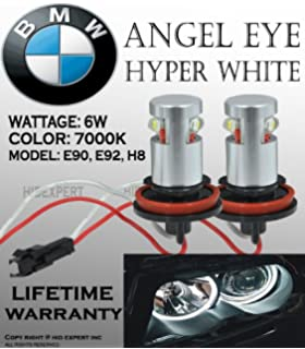 ICBEAMER for BMW Angel Eye Canbus Error Free Halo Ring E92 H8 H11 High Power LED