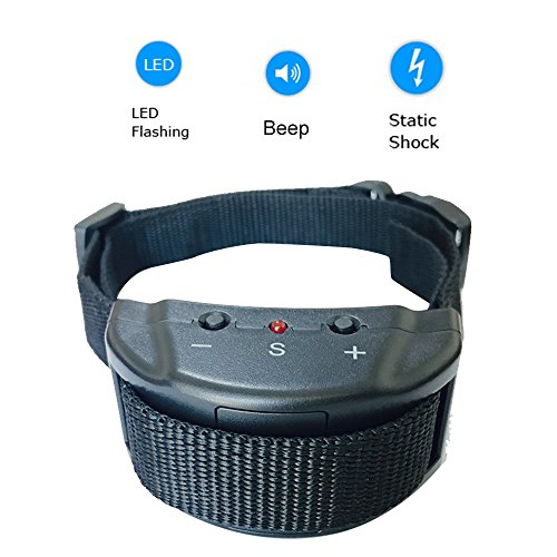No Bark Shock Collar for Dogs with 7 Levels Adjustable