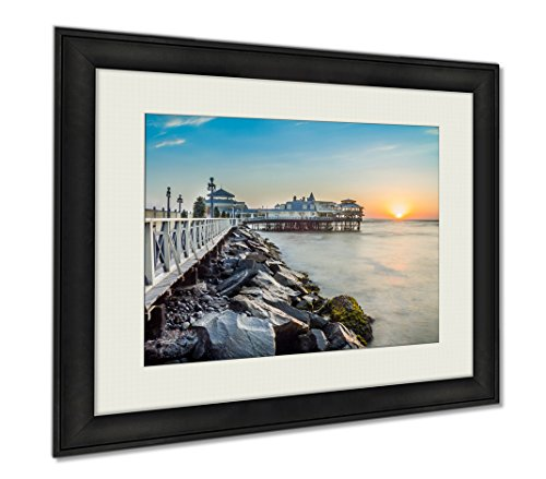 Ashley Framed Prints Lima Peru Panoramic Beach Sunset, Wall Art Home Decoration, Color, 26x30 (frame size), AG5906272 by Ashley Framed Prints