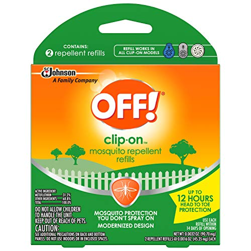(OFF! Clip-On Refills, 2 Count Refill (Pack of 5), 10 Total Refills)