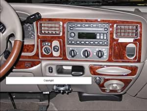 Ford f 250 f 350 f250 f350 interior burl wood dash trim kit set 1999 2000 2001 2002 for Ford interior replacement parts