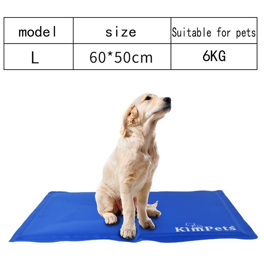 Grande MeiHao Dog Cooling Mat Summer Gel Cooling Pad per cani e gatti Evita il riscaldamento, Ideale per la casa e il viaggio,XL