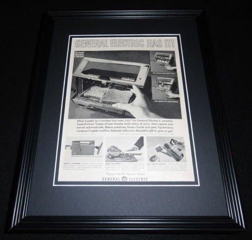 1951-ge-general-electric-toaster-oven-11x14-framed-original-advertisement
