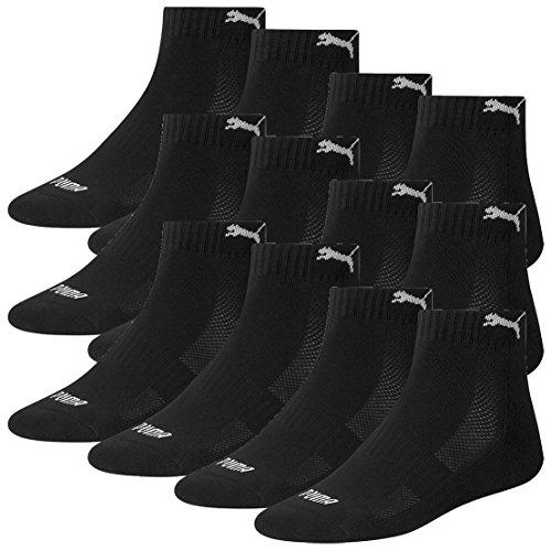 Puma Match 200 tessuto paia 12 spugna misto Confezione da calzini in Quarters di nero AAqxwr