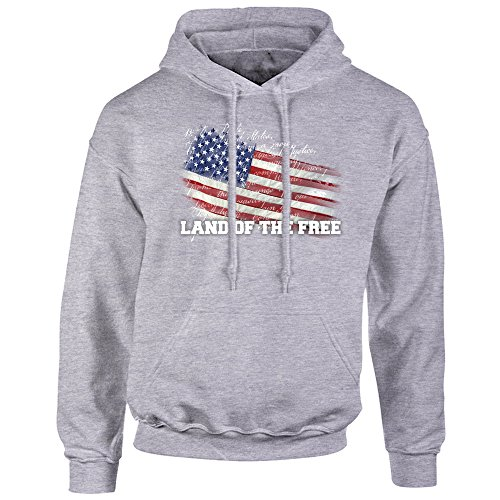 (5 Star Limited Edition Vintage American Flag Hoodie Pullover Fleece for Men XL - Sweatshirt, Gift, Cotton Poly Blend, Ultra Soft)