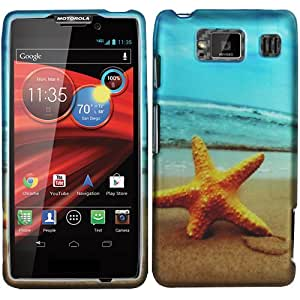 Beach Star Fish Baby Light Blue Hard Case Cover For Motorola Droid Razr Maxx Max Hd Razor 926M with Free Pouch