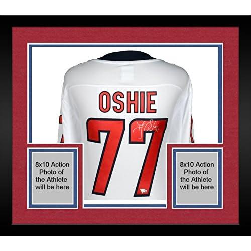 half off a29d0 d3814 Framed T.J. Oshie Washington Capitals Autographed White ...