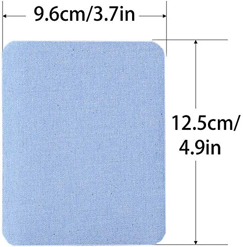 AXEN 12 Pieces Iron On Denim Patches for Clothing and DIY Repair Sewing Repair Patches Rectangle, 4 Colors