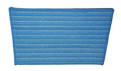 Haan Microfiber Steam Cleaner Pad Replacement for all Models Bulk, Blue, Pack of 2