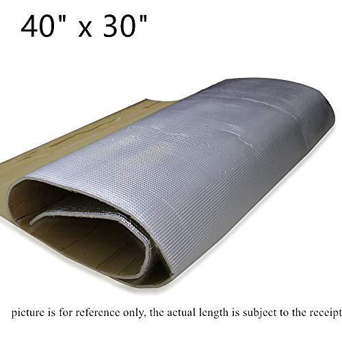 SHINEHOME 6mm 236mil Car Heat Shield Sound Deadener Deadening Heat Insulation Mat Noise Insulation Dampening Mat Heat Proof Mat 40 inches x 30 inches 8.18sqft