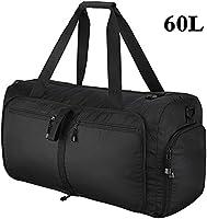 OMorc Travel Duffel Bag, 60L grandes plegables Deportes y Gym Duffle Bag, resistente al agua Travel Duffle Bag con correa de hombro extraíble para las mujeres y los hombres (Negro)