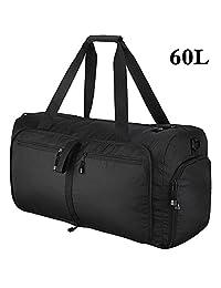 OMorc Travel Duffel Bag, 60L grandes plegables Deportes y Gym Duffle Bag, resistente al agua Travel Duffle Bag con correa de hombro extraíble para las mujeres y los hombres