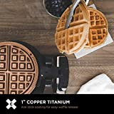 CRUX Double Rotating Belgian Waffle Maker with