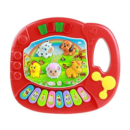 Educational Toys,Baby Kids Musica Animal Farm Piano Music Toy,Laimeng (Red) (Baby Buzz Lightyear)